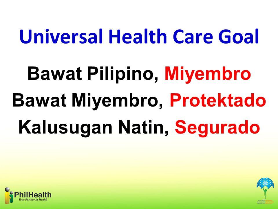 Universal Health Care Goal Bawat Pilipino, Miyembro Bawat Miyembro, Protektado Kalusugan Natin, Segurado