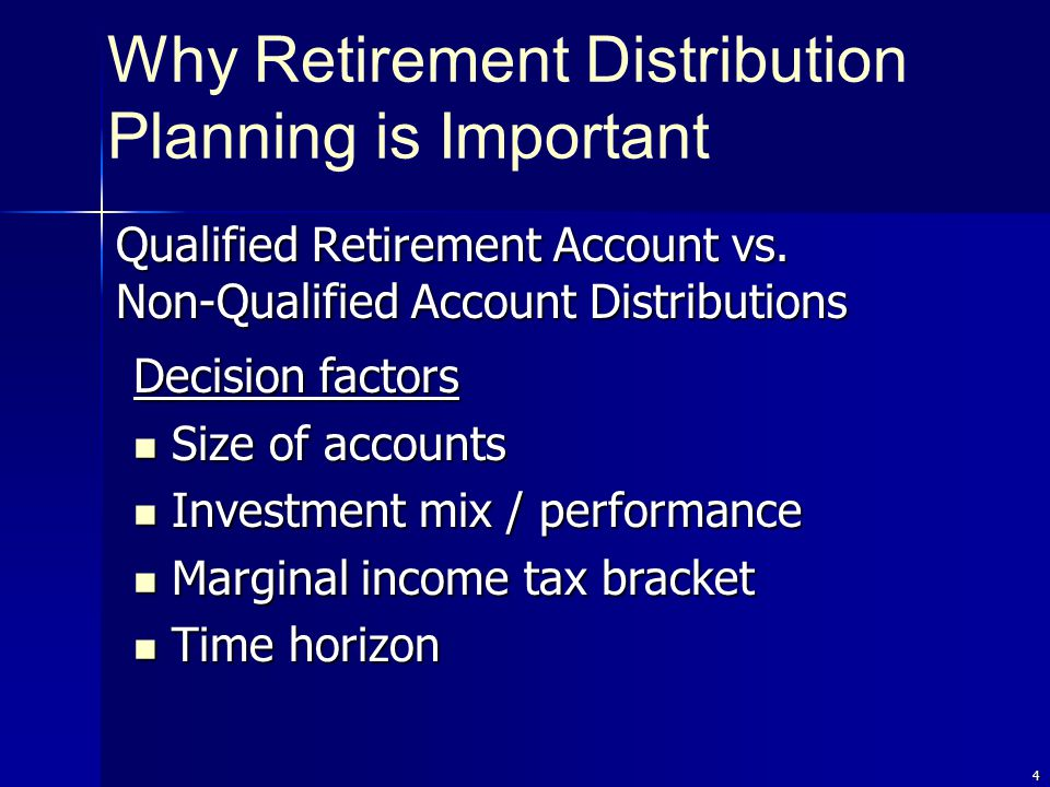 4 Qualified Retirement Account vs.