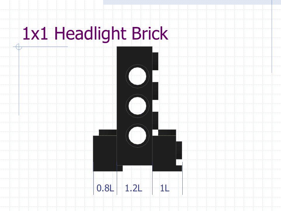 1x1 Headlight Brick 0.8L1.2L1L