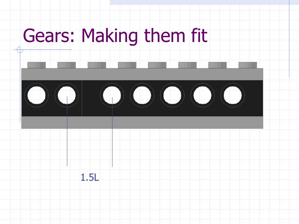 Gears: Making them fit 1.5L