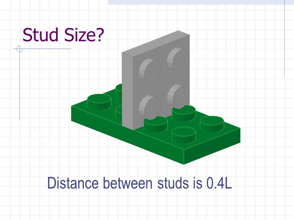 Gap between studs = 0.4L 1L 0.2L 0.6L