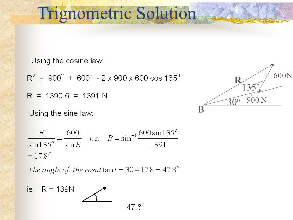 Solution 900N600N 30 o 45 o