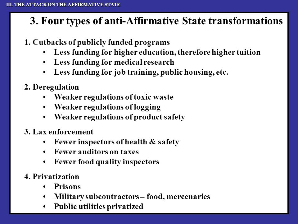 3. Four types of anti-Affirmative State transformations 1.