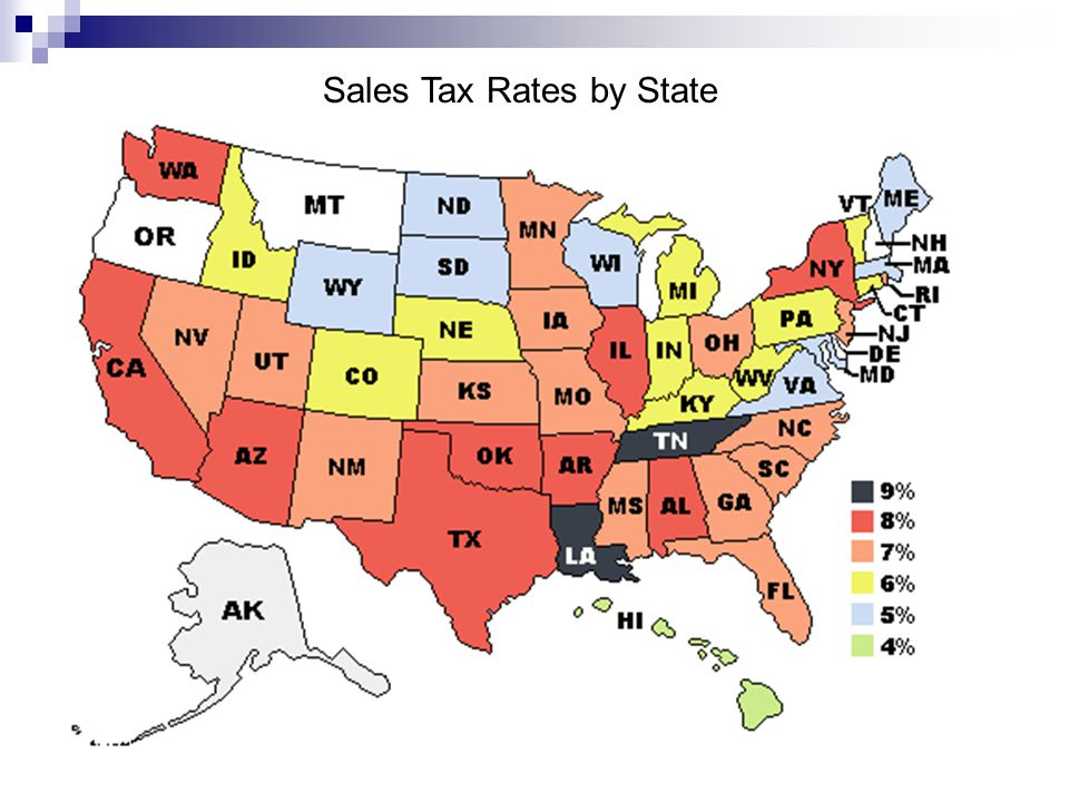 Sales Tax Rates by State