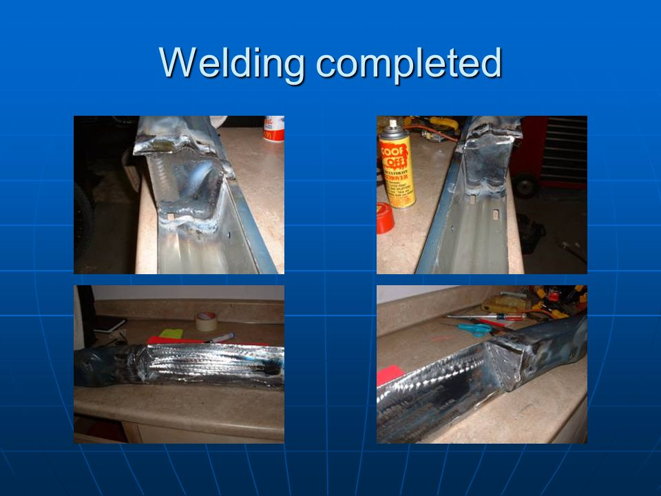Welding completed