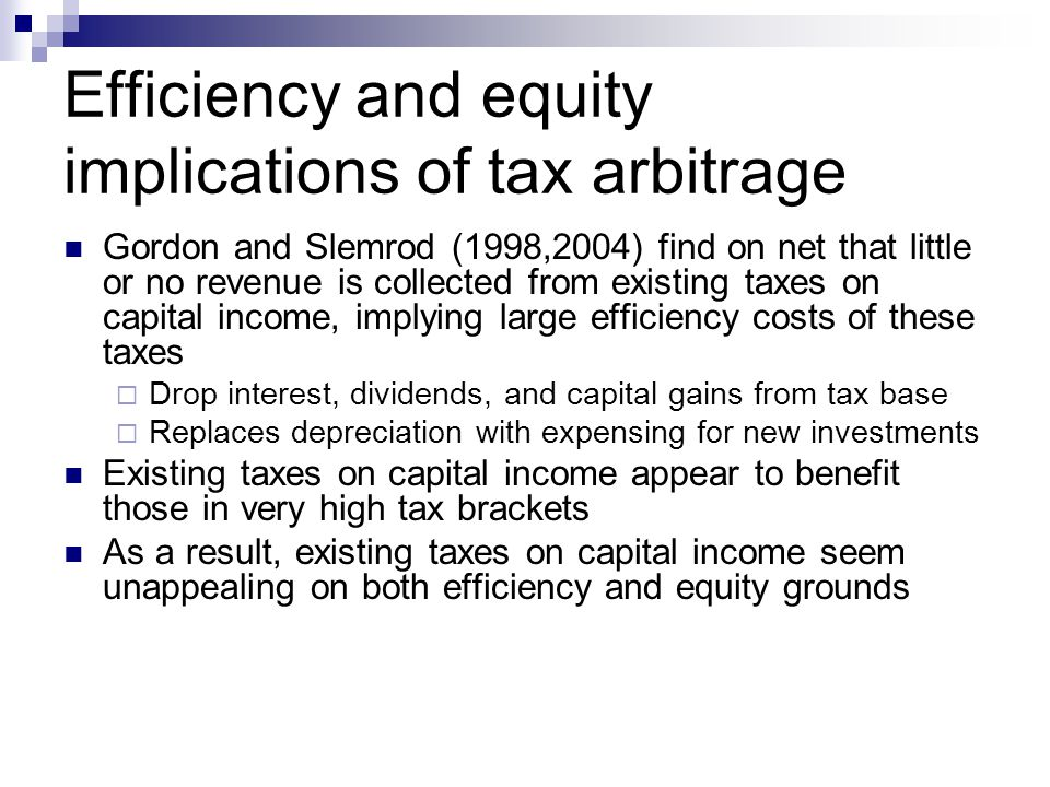 Income shifting between tax bases Income shifting between personal and corporate tax bases affects tax treatment of labor income as well as capital income By retaining entrepreneurial profits within a corporation, these earnings are taxed at t* rather than at rate m.
