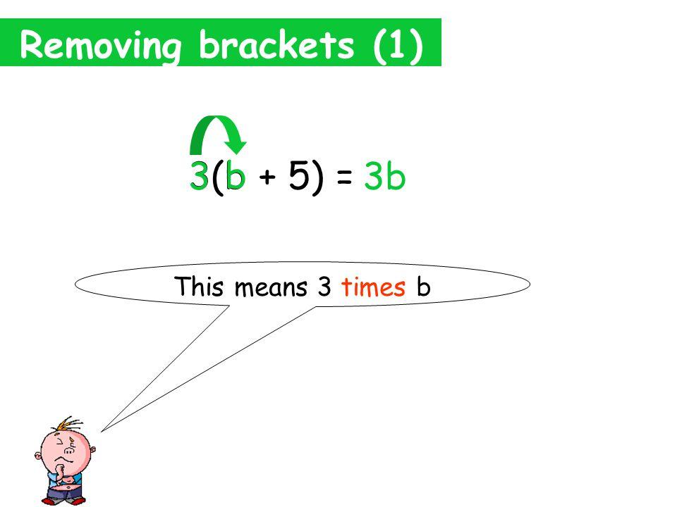 Presents Algebra Menu