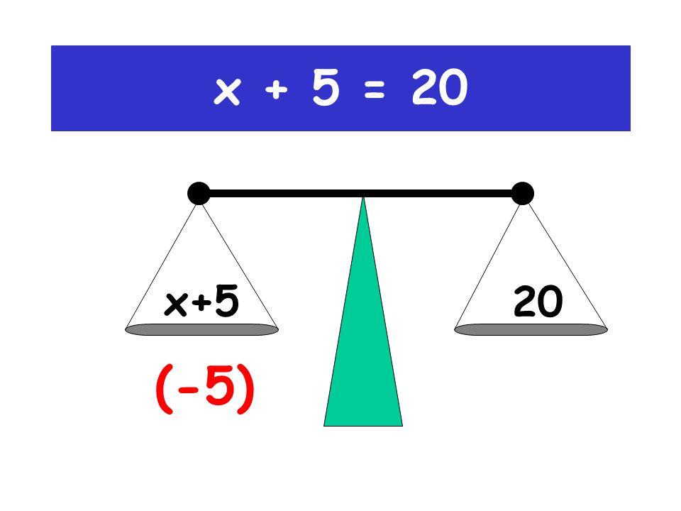 x + 5 = 20