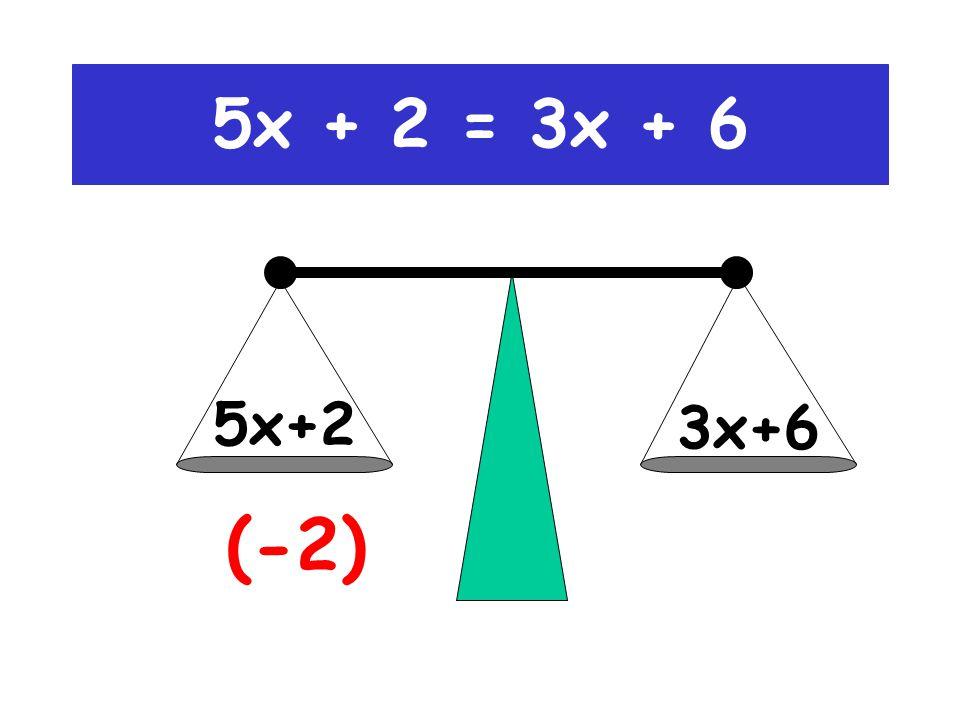 5x + 2 = 3x + 6