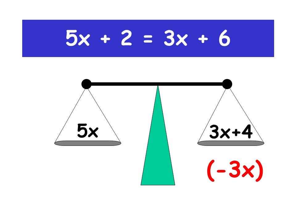 5x (-2) 3x+6