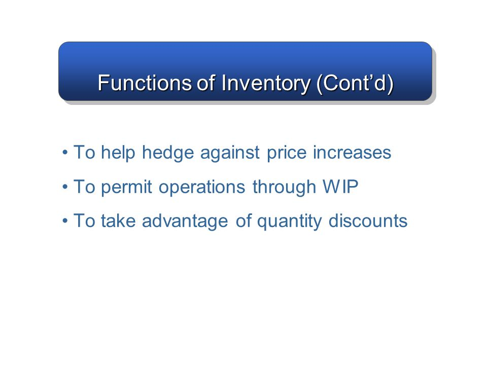 Total Inventory Costs Note that frequently holding cost is given as a single number meaning H = IC Example: H =$2/item/year 14–17