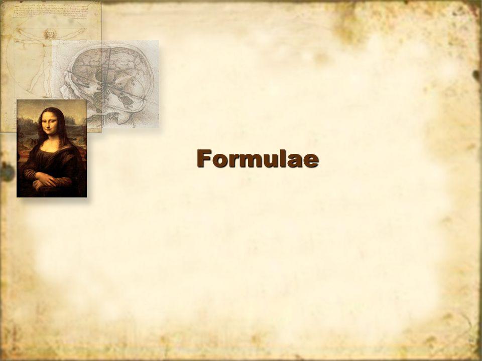 FormulaeFormulae