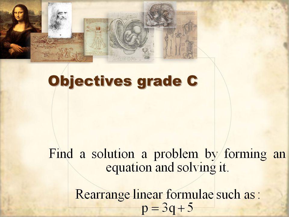 Objectives grade C