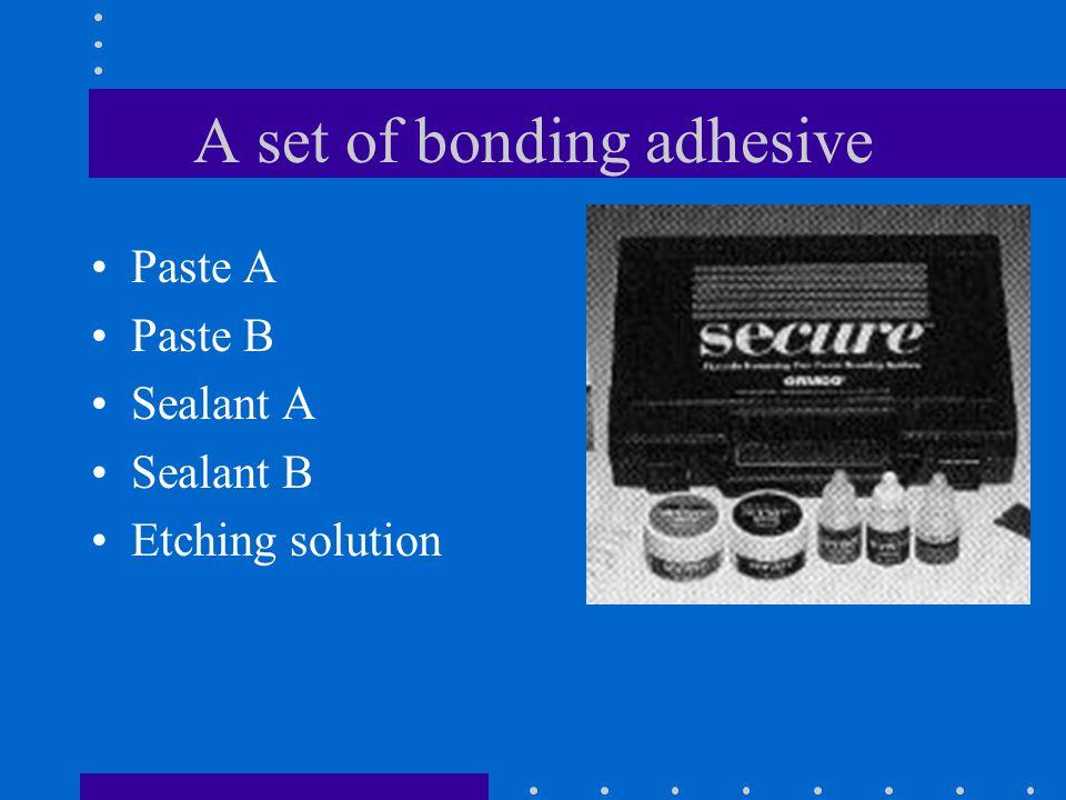 A set of bonding adhesive Paste A Paste B Sealant A Sealant B Etching solution
