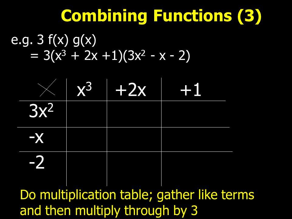 Combining Functions (3) e.g.