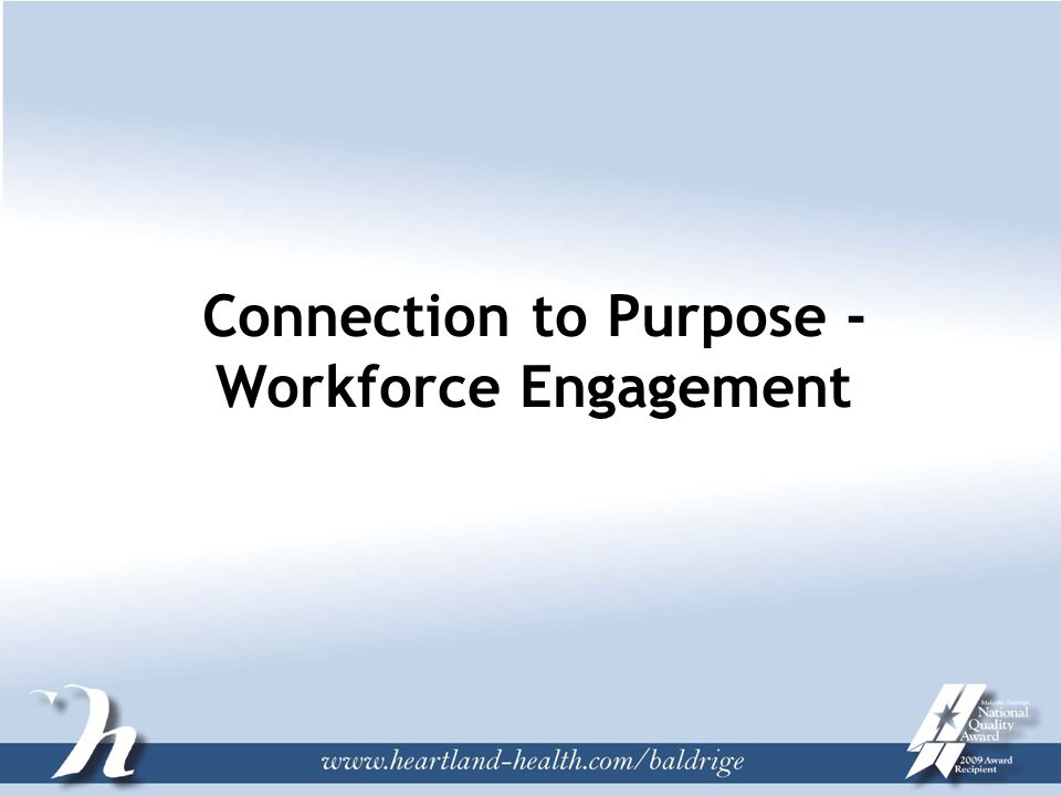 Connection to Purpose - Workforce Engagement