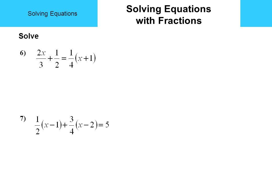 Solving Equations Trial and Improvement Solve to 1dp by trial & improvement a) x 2 + x = 20.7 xx 2 + x comment Solution lies between 4 & 6