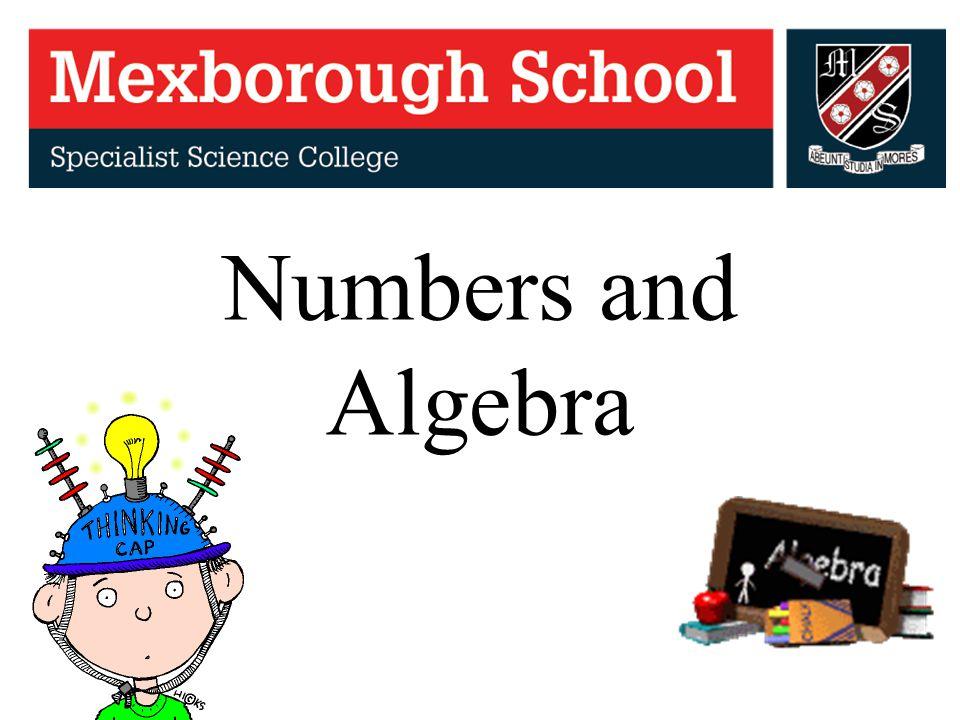 Numbers and Algebra