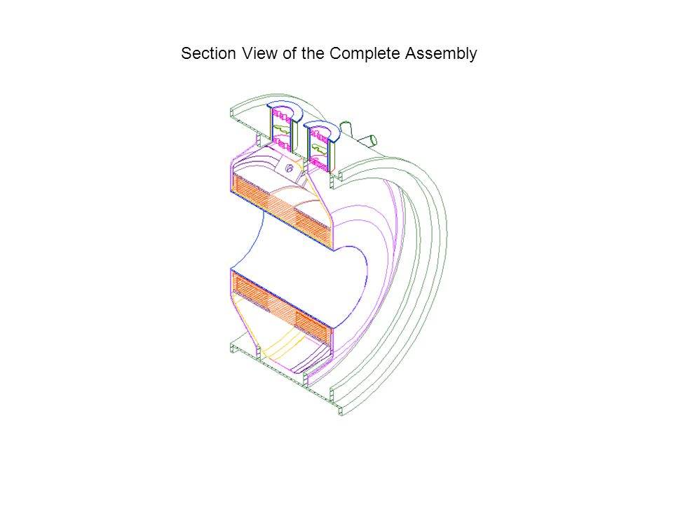 Section View of the Complete Assembly