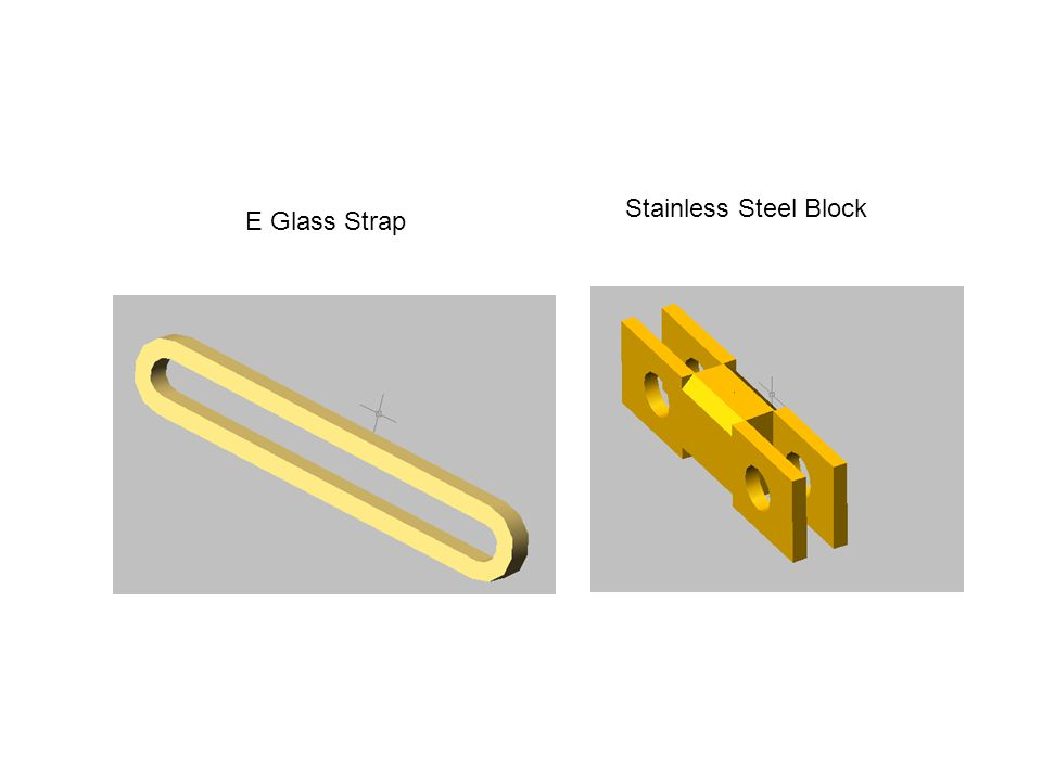 E Glass Strap Stainless Steel Block