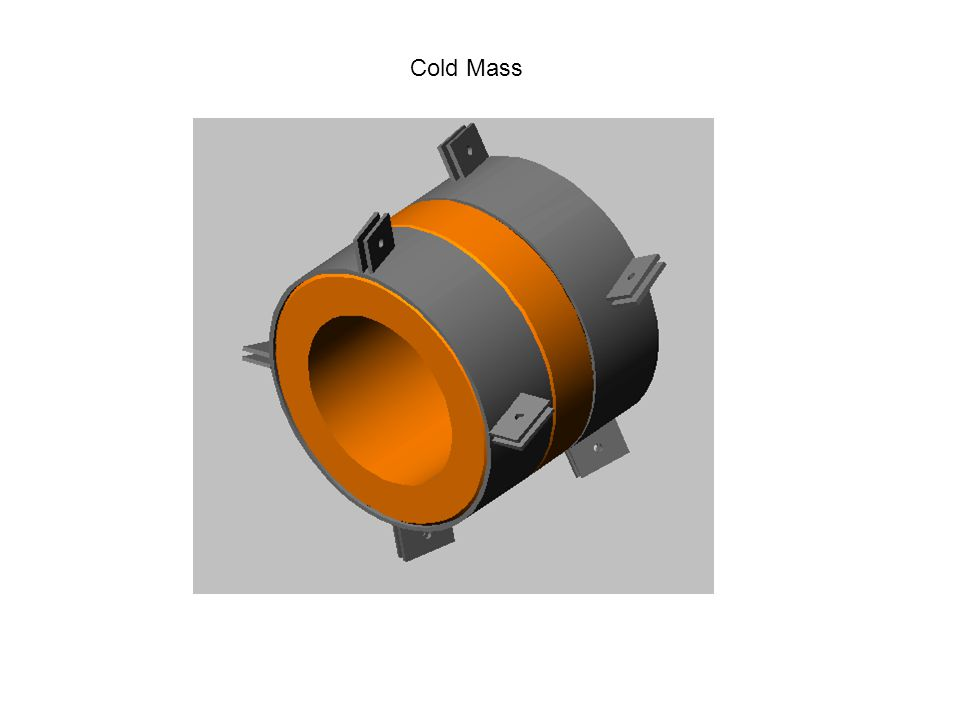 Components of the Cold Mass Support System E-Glass Straps Stainless Steel Block Stainless Steel Shear Pins Integrated Tensioning Device/ Anchor on warm vessel End Cap Mounting Bracket for Cold Mass Support