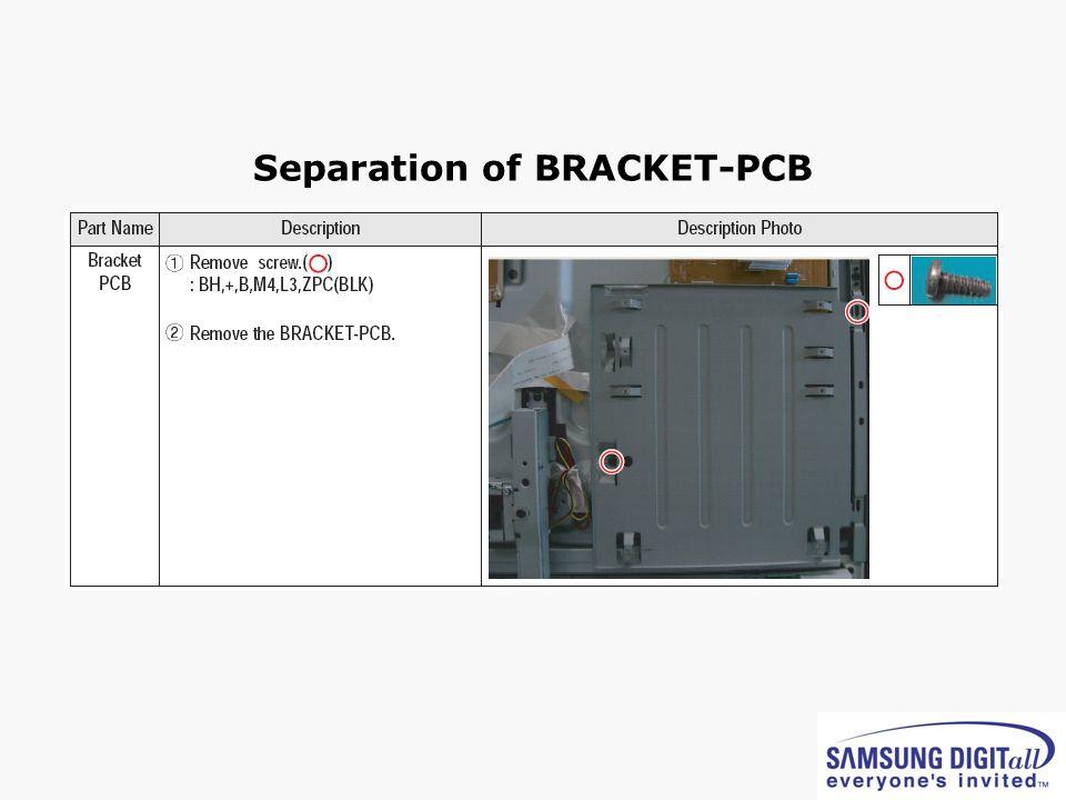 Separation of BRACKET-PCB