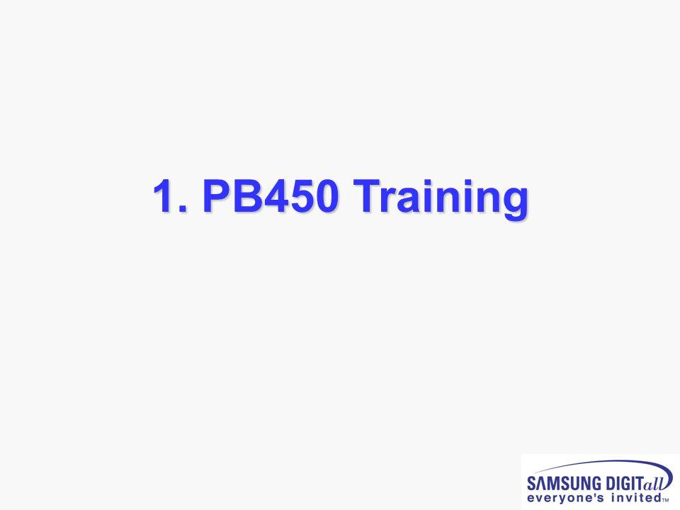 1. PB450 Training