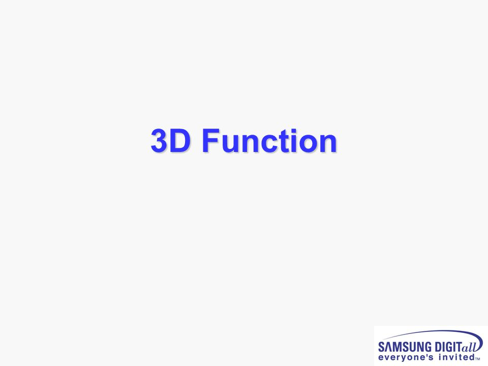 3D Function