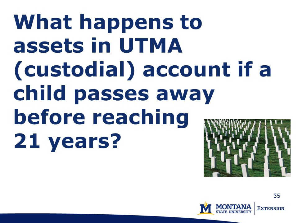 What happens to assets in UTMA (custodial) account if a child passes away before reaching 21 years.