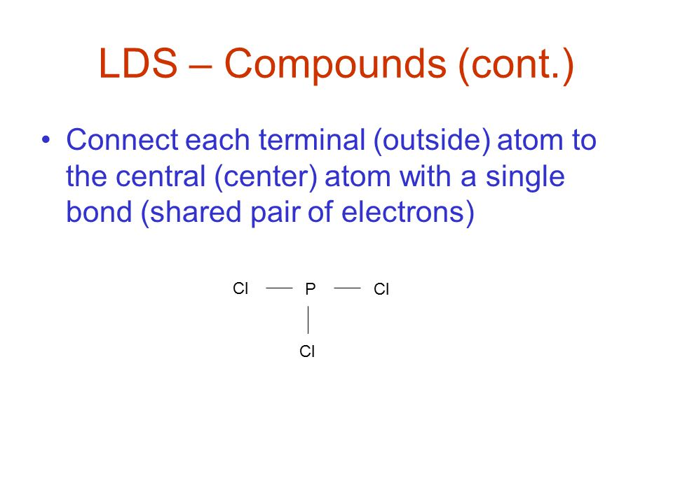 Multiple Bonds –do not overbond – this means do not put more multiple bonds than is necessary in an atom Ex SO 2 : First distribution of e ─ s Fixed structure: All atoms, through sharing, see 8 e ─ s LDS Exceptions S O O S O O