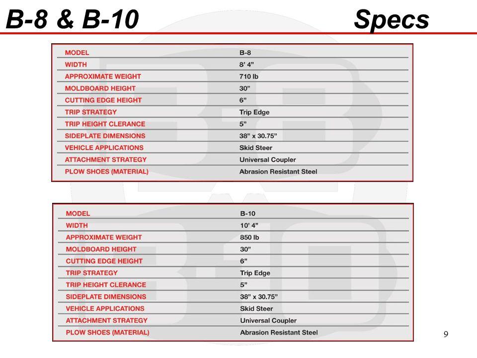 B-8 & B-10 Specs 9