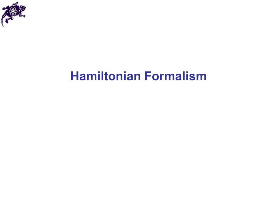 Hamilton's characteristic function Now we require: So: Detailed comparison of Hamilton's characteristic vs.