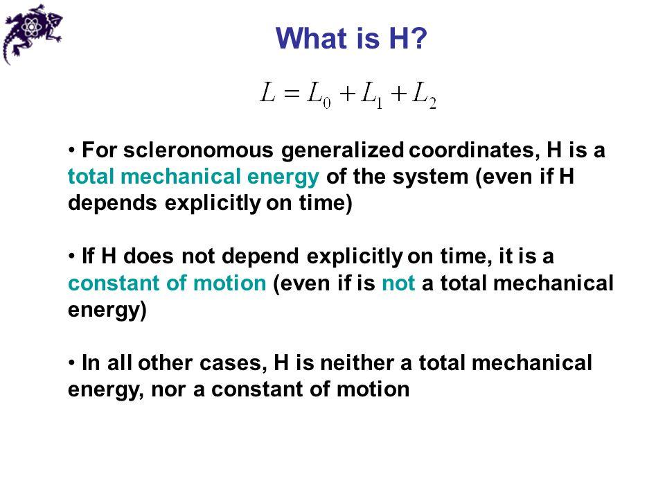 Hamilton's equations Hamiltonian: Hamilton's equations of motion: Sir William Rowan Hamilton (1805 – 1865)