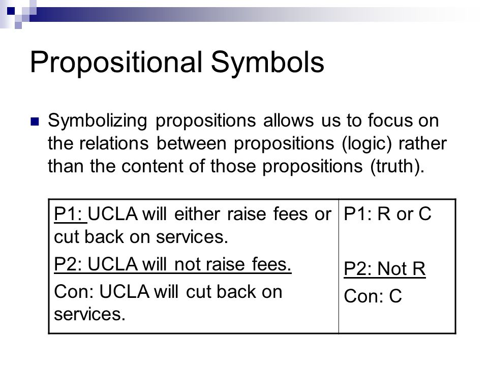 Working with Propositional Symbols - 1 Expression: If I get 80 points on the test, I'll get a B on the test.