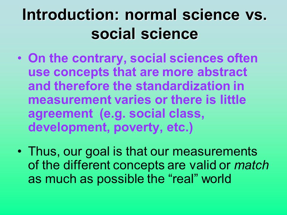 Introduction: normal science vs.