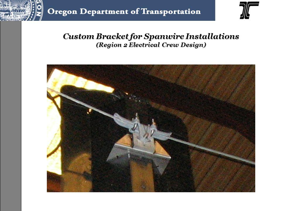 Custom Bracket for Spanwire Installations (Region 2 Electrical Crew Design)