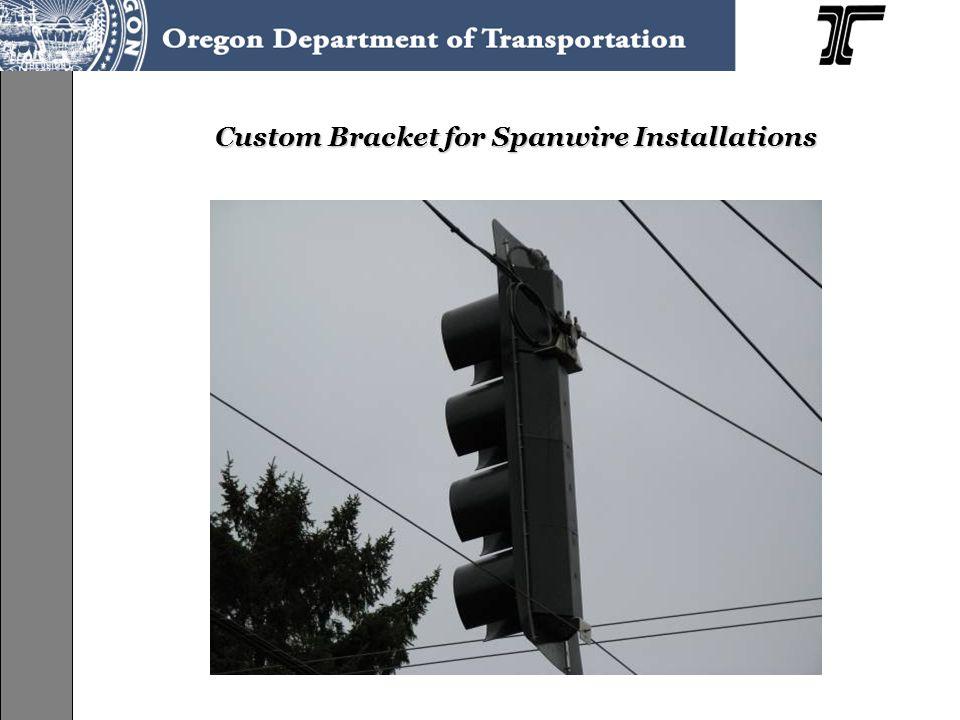 Custom Bracket for Spanwire Installations