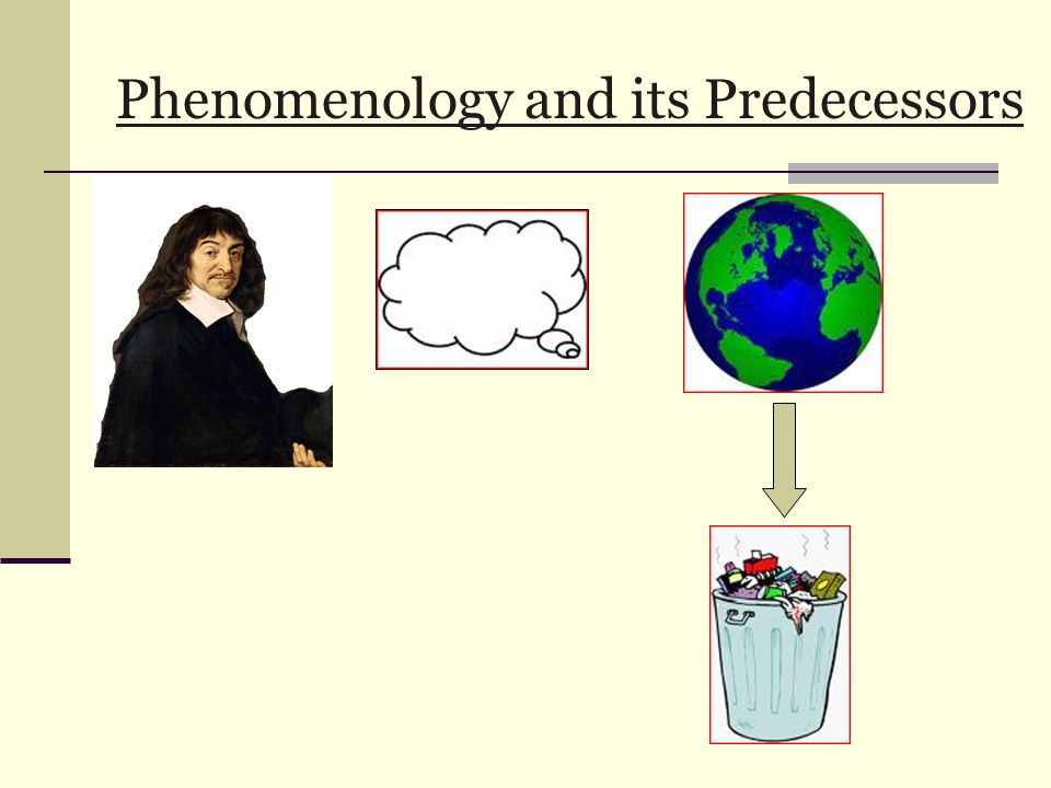 Phenomenology and its Predecessors