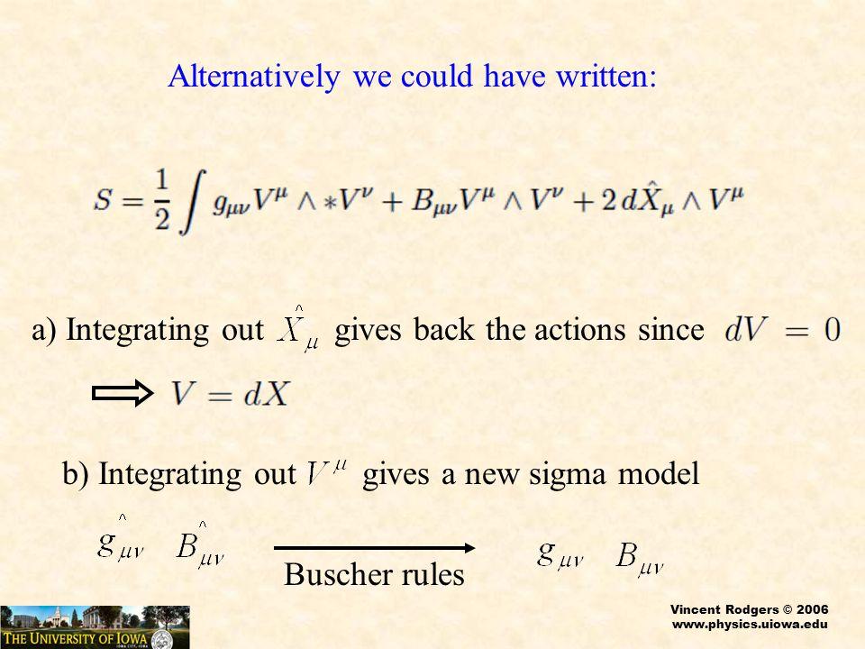 Vincent Rodgers © 2006 www.physics.uiowa.edu Courant Case p=0 Courant bracket for p=0 Suitable Pairing Variations