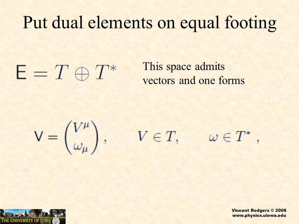 Vincent Rodgers © 2006 www.physics.uiowa.edu Courant Bracket, p > 0