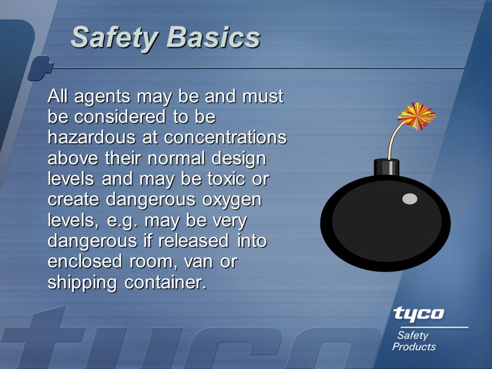 Completion Procedures General Mechanical Checks: Inspect protected area  Piping  Pipe connections  Nozzles  Warning signs