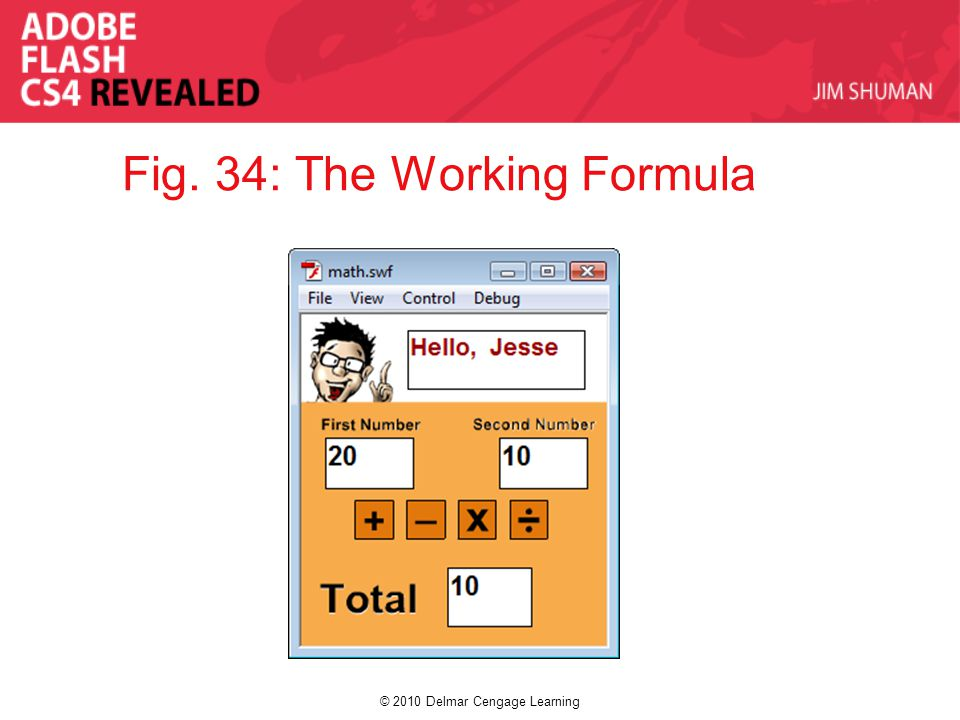 © 2010 Delmar Cengage Learning Fig. 34: The Working Formula
