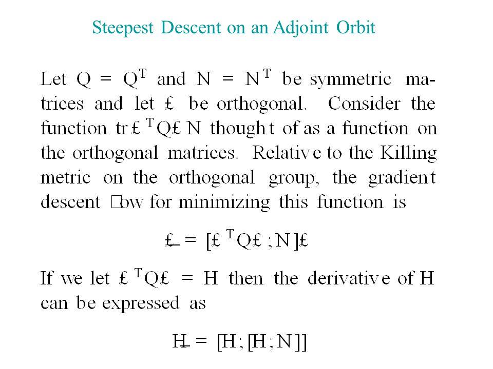 Steepest Descent on an Adjoint Orbit