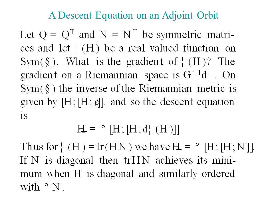 A Descent Equation on an Adjoint Orbit