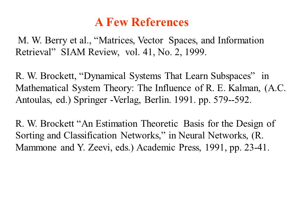 M. W. Berry et al., Matrices, Vector Spaces, and Information Retrieval SIAM Review, vol.