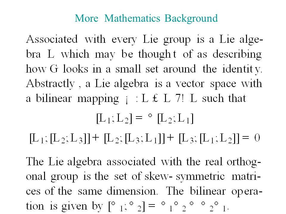 More Mathematics Background