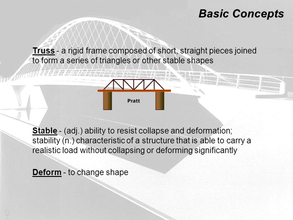 To design a bridge like you need to take into account the many forces acting on it : The pull of the earth on every part The ground pushing up the supports The resistance of the ground to the pull of the cables The weight of every vehicle Then there is the drag and lift produced by the wind The turbulence as the air rushes past the towers Basic math and science concepts Bridge Engineering