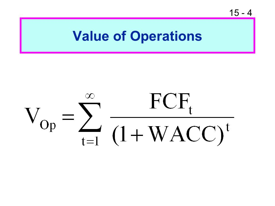 15 - 4 Value of Operations