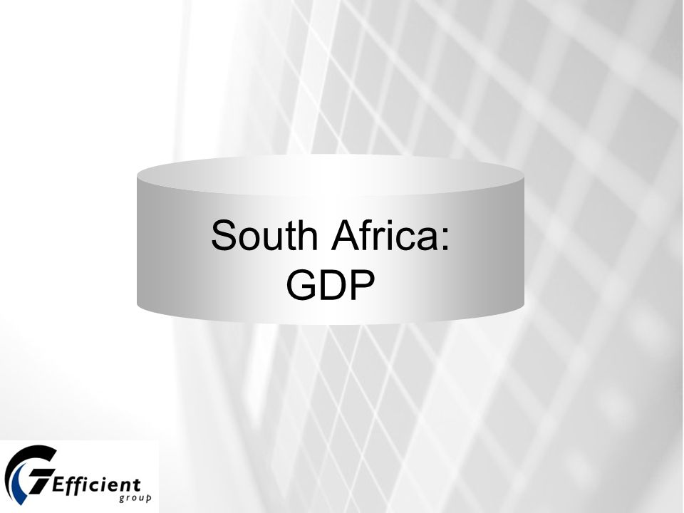 South Africa: GDP