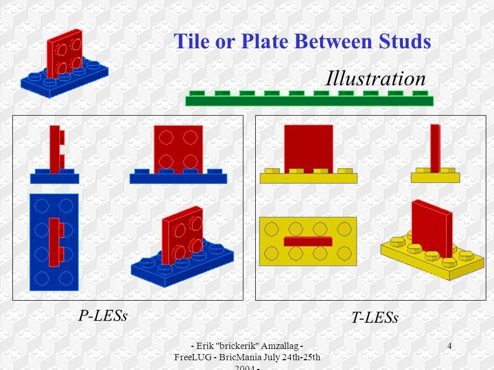 - Erik brickerik Amzallag - FreeLUG - BricMania July 24th-25th 2004 - 4 Illustration Tile or Plate Between Studs P-LESs T-LESs